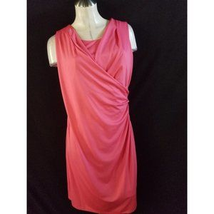 3/$25 Peter Nygard Size M Coral Midi Dress
